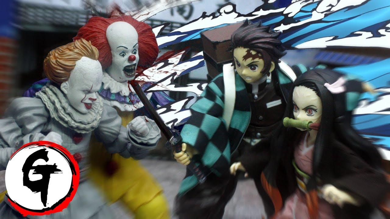 Tanjiro & Nezuko VS IT -Demon Slayer stop motion 竈門炭治郎&竈門禰豆子VS IT