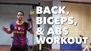 BACK, BICEPS, & ABS WORKOUT WEEK 19 | SAIF