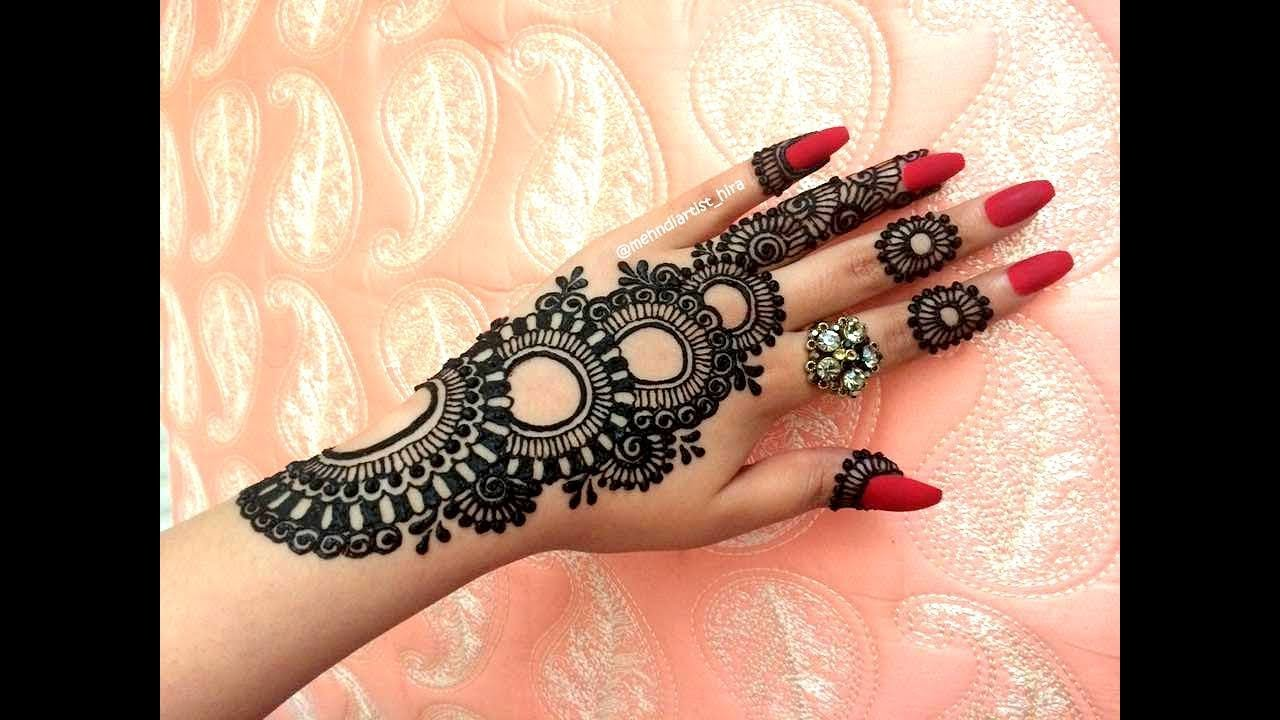henna mehndi design simple and beautiful