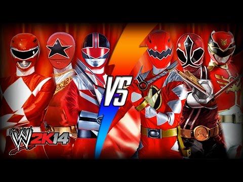 WWE 2K14 S3E9 - MMPR, Zeo, & Time Force VS Dino Thunder, Samurai, & Megaforce (Tag Team Match)
