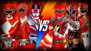 WWE 2K14 S3E9 - MMPR, Zeo, & Time Force VS Dino Thunder, Samurai, & Megaforce (Tag Team Match)