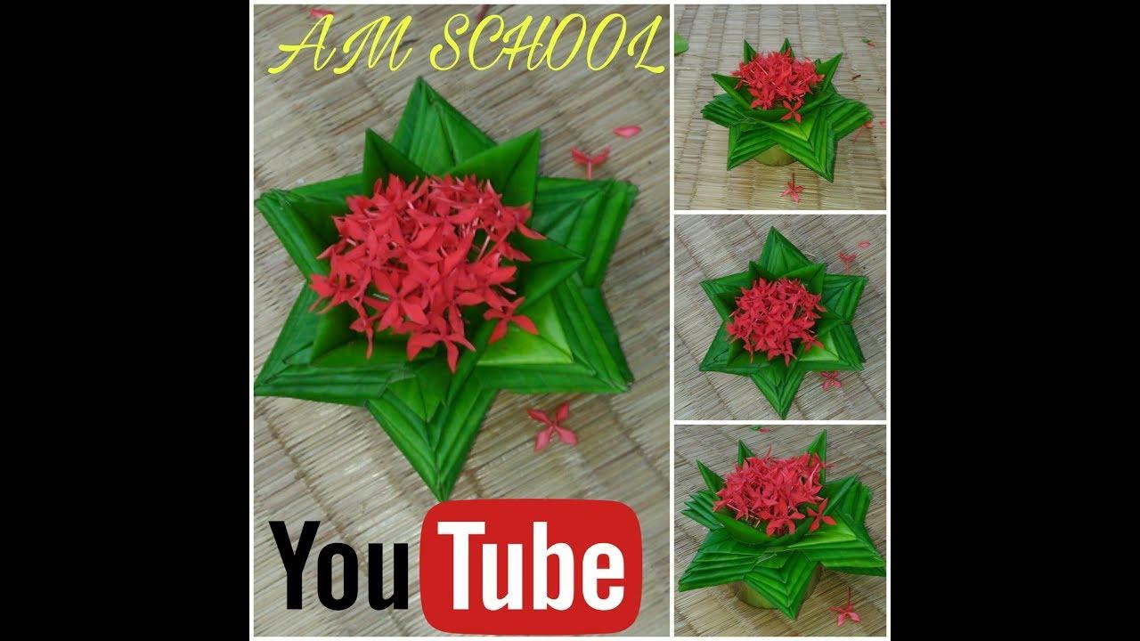 How to make banana tree left lotus flower youtube how to make banana tree left lotus flower izmirmasajfo