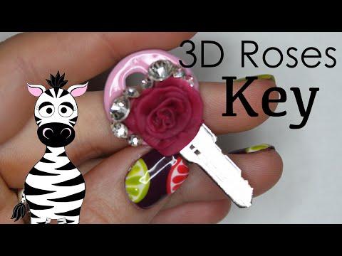 3D Rose on a Key Acrylic Nail Art Tutorial thumbnail