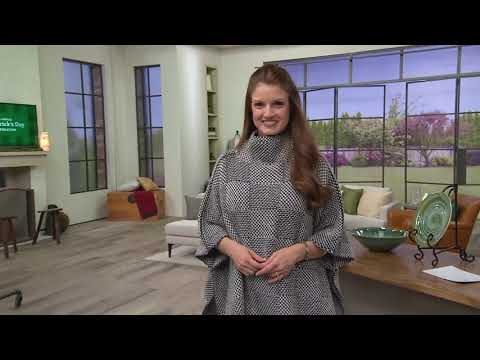 Fisherman Out Of Ireland Merino Wool Checkered Poncho On QVC