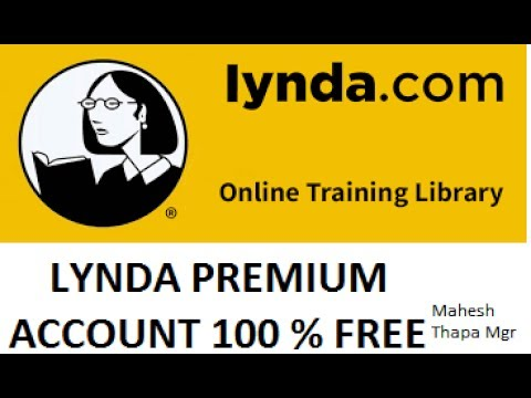How to Get Access Lynda Free Premium Account (100% working)