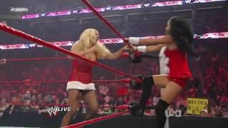 Raw 12/21/09 - 6 Divas Santa