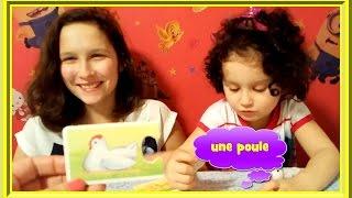 🐔 Собираем пазл: зайчик, курочка, корова и их детки. Урок французского. French lesson