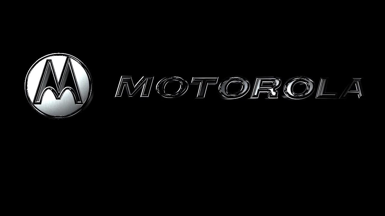 motorola logo. motorola logo 3d grey