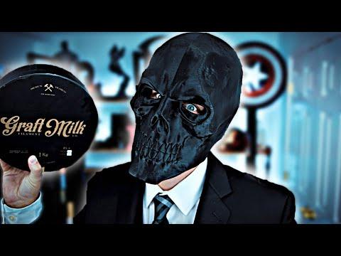 3d Printed Black Mask Replica Prop Batman Birds Of Prey Graft Milk Matte Pla Youtube
