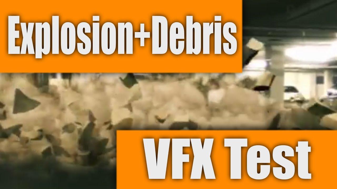 Explosion and Debris - VFX Test Render