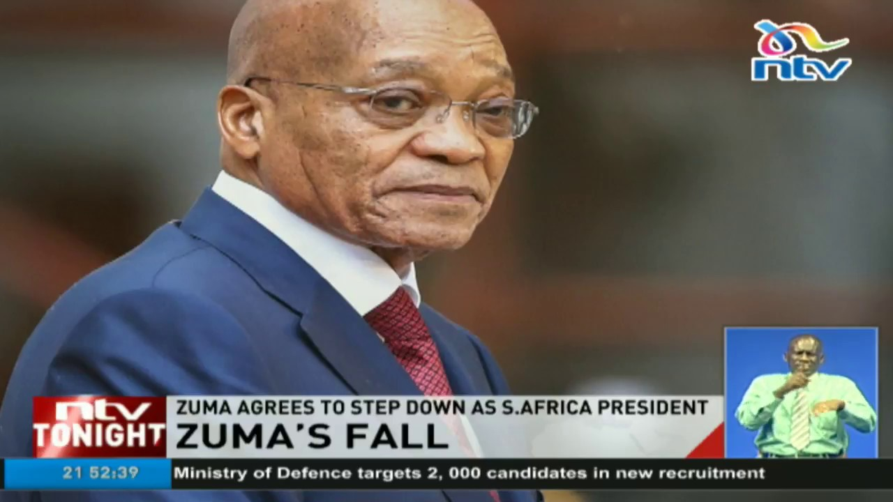 1c34fdb94fc Zuma agrees to step down as South Africa  president - YouTube