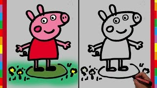 Dibujar paso a paso a Peppa Pig / How to draw Peppa Pig (DibujaryCrear)