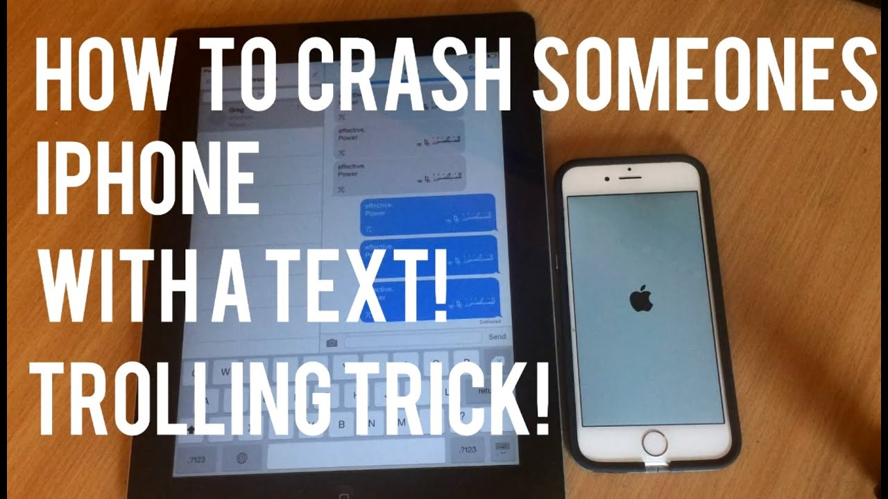 crash iphone with text how to crash someone s iphone with a text trolling trick 5870