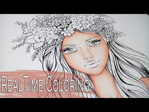 How to color SKIN in Colouring Fantasy -  Scot Howden -  Part 1 - Realtime