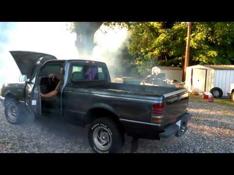 93 Ford Ranger 3.0 V6 smoke from Seafoam