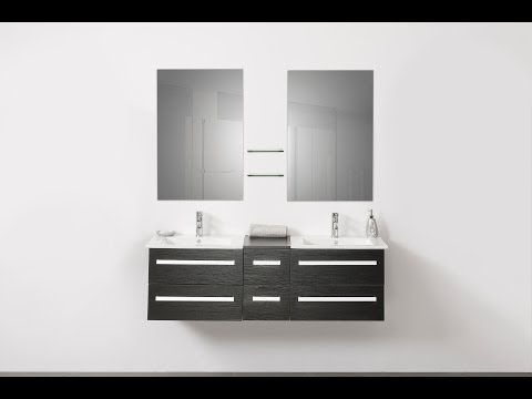 Beliani Modern Bathroom Furniture black - MADRID - Eng