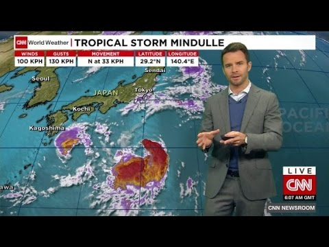 Tropical storm Mindulle threatens Japan
