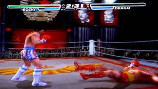 Game Play  Playstation 2 -Rocky Vs Ivan Drago