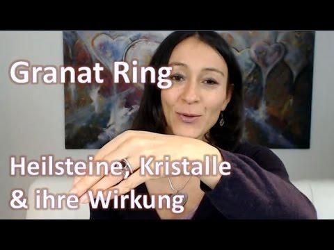 Heilsteine, Kristalle & ihre Wirkung - Granat Ring