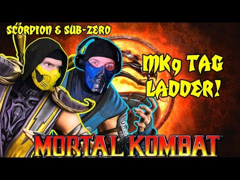 Scorpion & Sub-Zero Play - MORTAL KOMBAT 9 - TAG TEAM LADDER! | MK9 PARODY! thumbnail