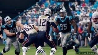 NFL 2013 MNF Week 11 - New England Patriots vs Carolina Panthers - 2nd Qrt - Madden NFL 25 - HD