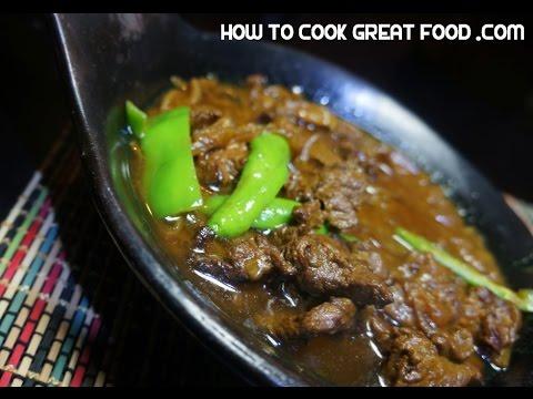 Zilzil Alicha Wot Recipe - Ethiopian Beef Amharic Alecha wet wat zil