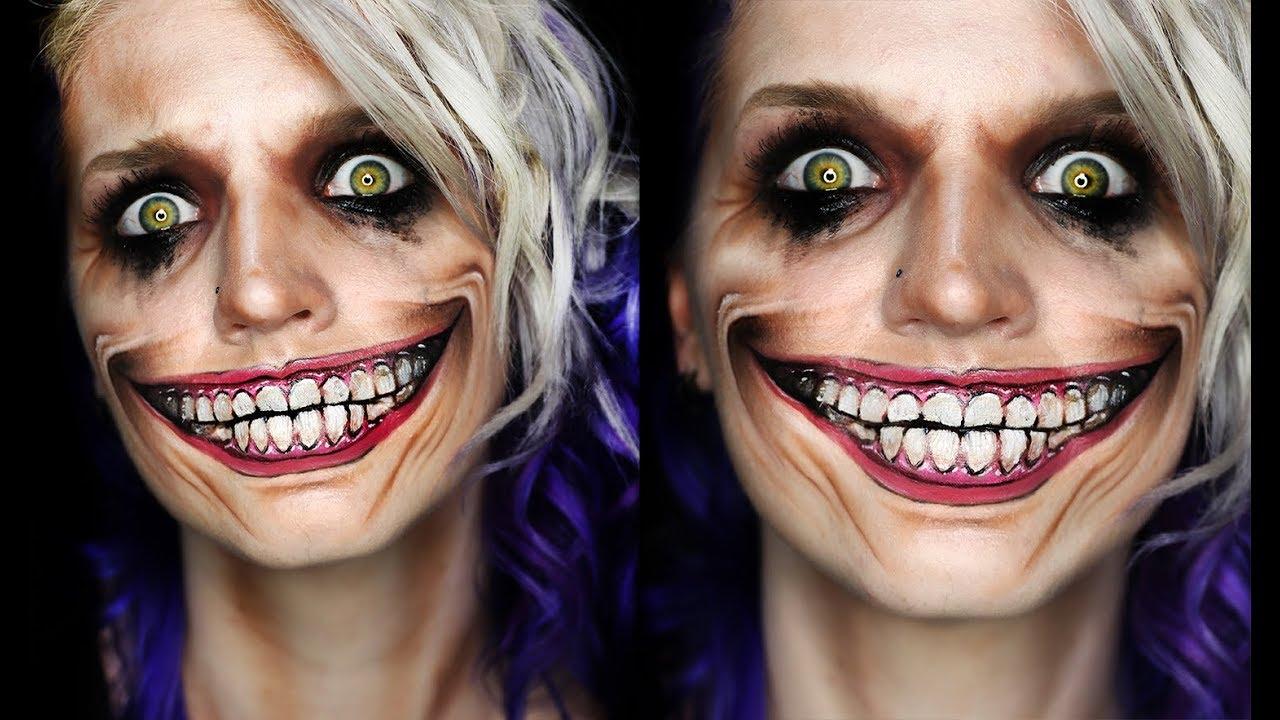 joker smile | halloween makeup tutorial - youtube