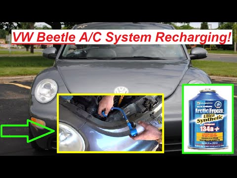 VW Beetle A/C System Recharging How to Recharge Air Conditioning on Vw  Beetle