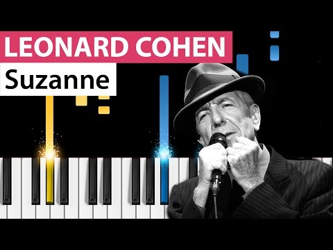 Leonard Cohen - Suzanne - Piano Tutorial - How to play Suzanne on piano