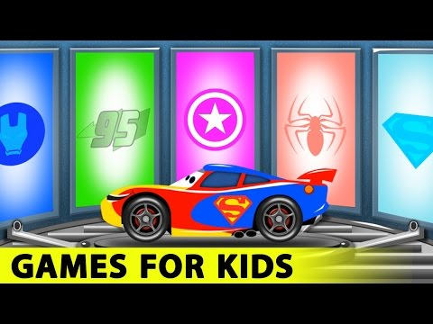 Thumbnail: Lightning McQueen Funny Race in Cars Cartoon and Spiderman for Children with Learn Colors for Kids