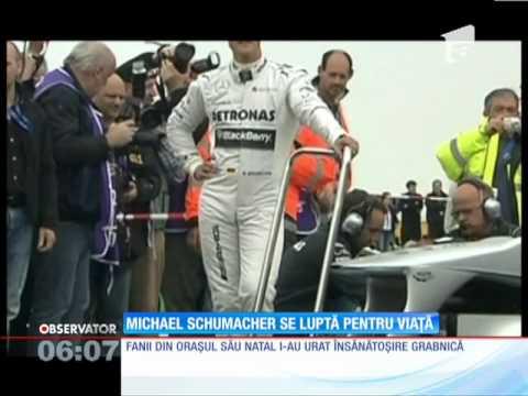 Michael Schumacher, în comă  în urma unui accident la schi