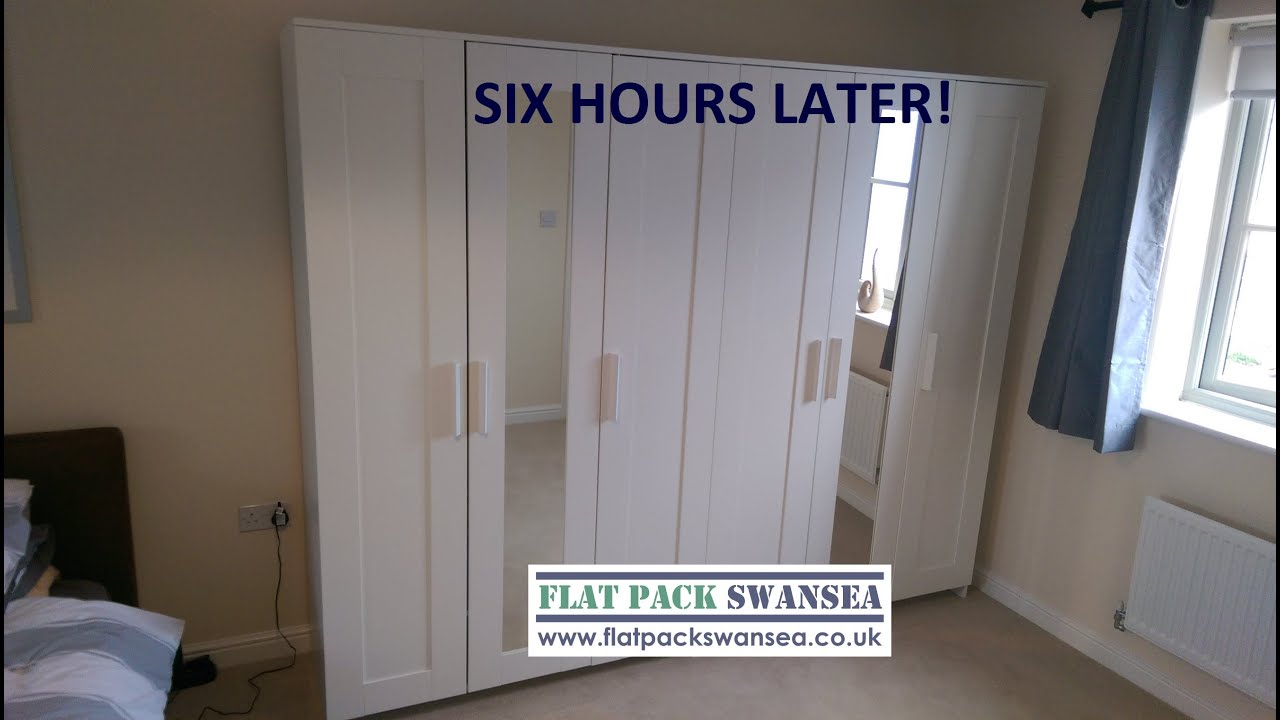 big flat pack job ikea pax walk in wardrobe brimnes assembled