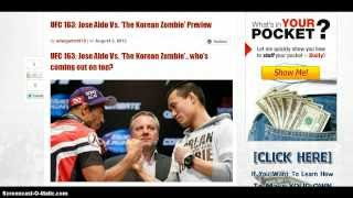 UFC 163 Jose Aldo Vs Korean Zombie Preview