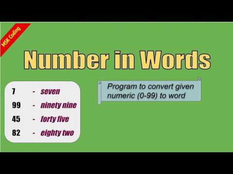 Number To Words Python Program You