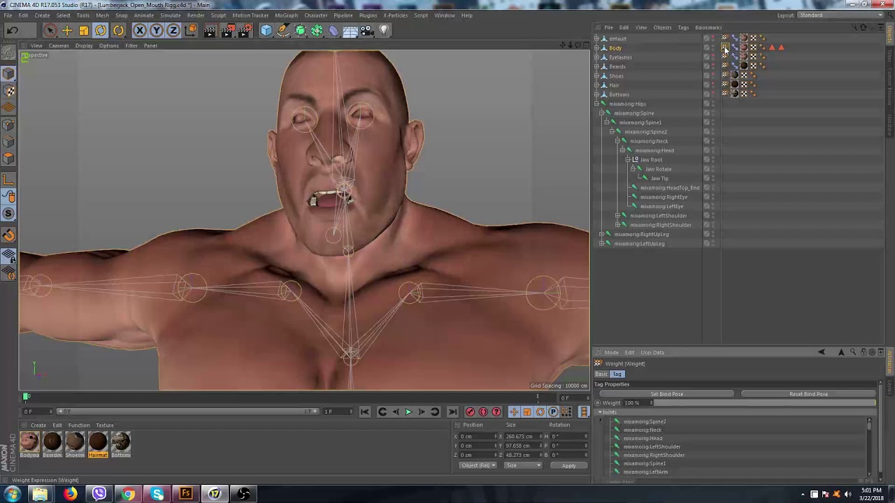 Rigging Mouth C4d