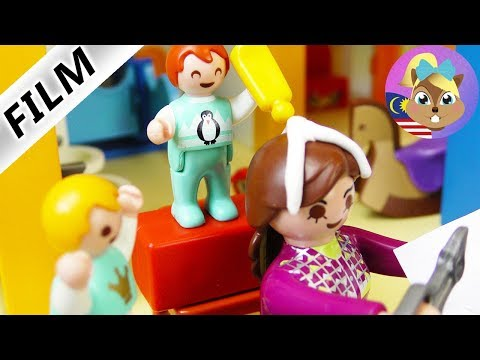 Filem Playmobil GAM KAT RAMBUT - Emma buat kacau kat tadika? Filem kanak-kanak Keluarga Vogel