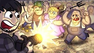HILLBILLY MINIGUN RAMPAGE | GTA 5 | GTA V Online Funny Moments