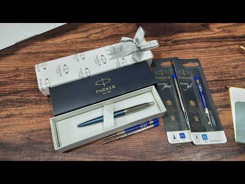 วิธีเปลี่ยนไส้ปากกา Parker Jotter Waterloo blue Ballpen รีวิวไส้ปากกา Parker Gel