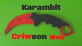 Karambit Criwson Web [CS-GO]
