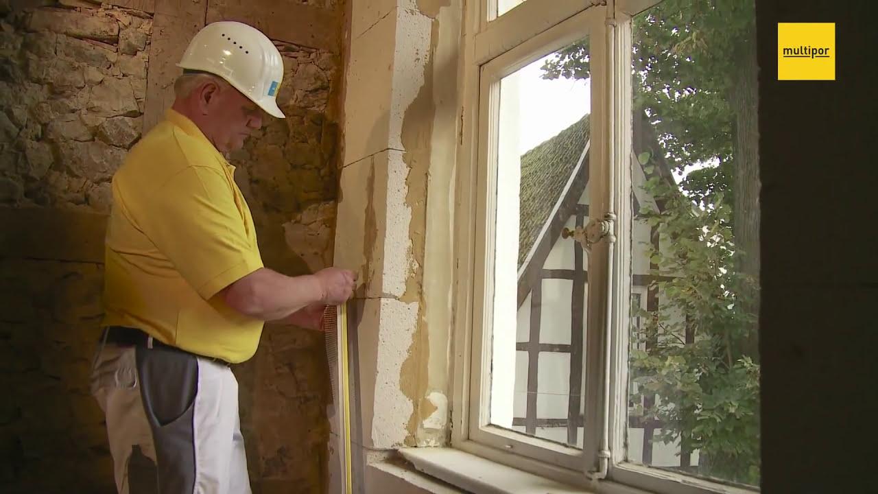 Multipor Mineraldammplatte Verarbeitung Innendammung Mit Lehm Youtube