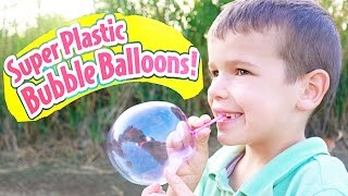 SUPER Bubble BALLOONS - Toy Fail Plastic Giant Bubble Balloon Surprise EPIC