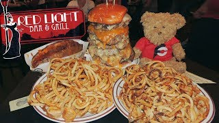 Mississippi Monster Burger Challenge w/ Curly Fries & Loaded Potato!!