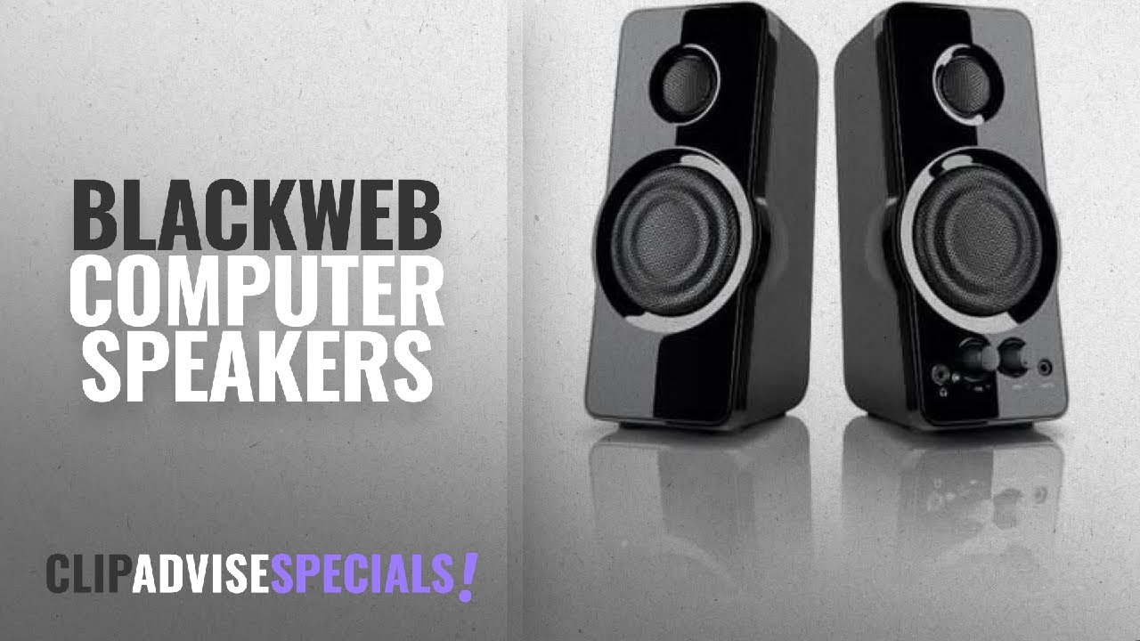 Blackweb Computer Speakers: Blackweb 2 0 Powerful Speaker System with  AUX-in jack for PC, NB, MP3