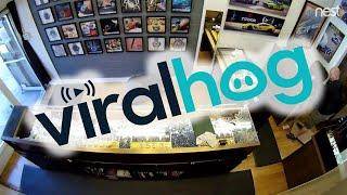 Watch Shop Owner Fends Off Robbers || ViralHog