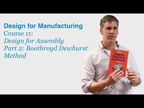 Design for Manufacturing Course 11 Part 2: Boothroyd Dewhurst Method - DragonInnovation.com