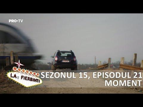 Las Fierbinti - Bobiță a lăsat mașina pe calea ferată