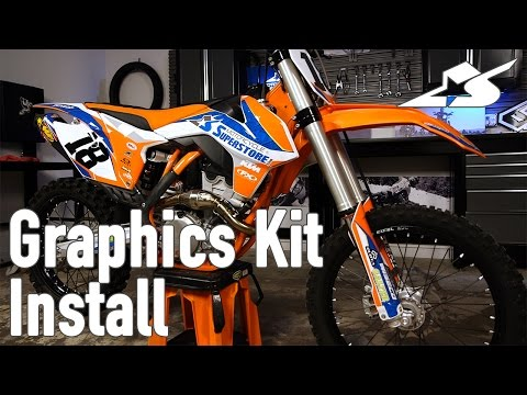 How to Install a Graphics Kit on a Motocross Bike