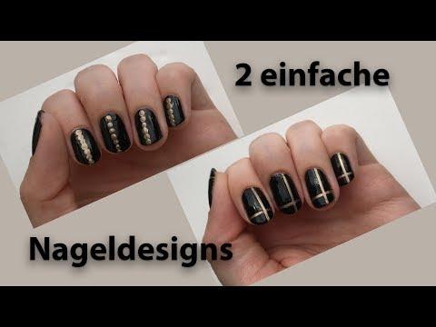 2-einfache-nageldesigns-in-gold-und-schwarz-|-'seni-nageldesign