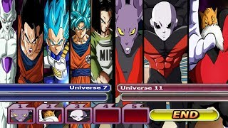 (The final Fight) Universe 7 VS Universe 11 | dragon ball budokai tenkaichi 3 mods