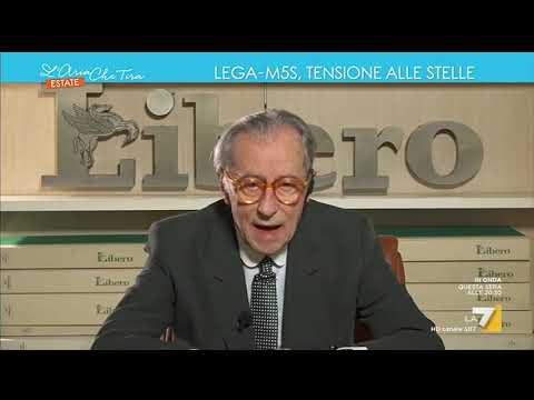 Vittorio Feltri: 'Un governo M5S, PD e Casini mi farebbe rimpiangere quello pasticcione che ...